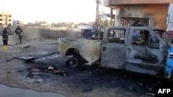 آثار إنفجار سيارة وسط كركوك