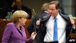 Главы правительств Германии и Великобритании - Ангела Меркель и Дэвид Кэмерон
