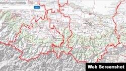 Карта Чечни и Ингушетии с сайта Росреестра