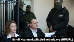 Засідання з обрання запобіжного заходу колишньому народному депутатові від фракції «Народний фронт» Миколі Мартиненку. Київ, 21 квітня 2017 року