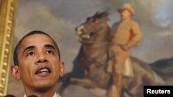 Președintele Barack Obama vorbind despre situația economiei