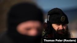 """Bratislav Živković, pripadnik """"Četničkog pokreta"""" u Srbiji, snimljen na Krimu, 13. marta 2014."""