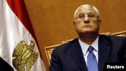 الرئيس المصري المؤقت عدلي منصور