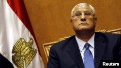 Եգիպտոսի նախագահի պաշտոնակատար Ադլի Մանսուր, 4-ը հուլիսի, 2013թ․