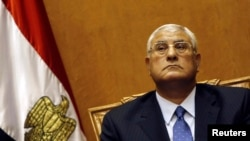 Adli Mansour, head of Egypt's Supreme Constitutional Court, attends his swearing-in ceremony as the nation's interim president in Cairo on July 4.