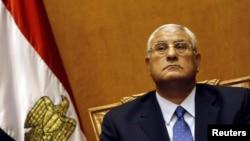 Мисралъул Конституционияб МахIкамаялъул бетIер ГIадли Мансур. REUTERS/Amr Abd