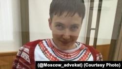 Надежда Савченко на суде в Донецке Ростовской области (17 декабря 2015 года)