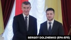 Премьер-министр Чехии Андрей Бабиш на совместной пресс-конференции с президентом Украины Владимиром Зеленским, Киев 19 ноября 2019 года