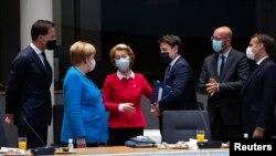 од самитот на ЕУ во Брисел, 20.07.2020.