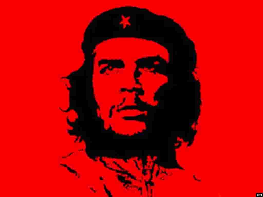 Russia -- A poster of Che Gevara; Guerillero Heroico; GNU Free Documentation License; undated