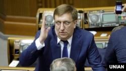 Народний депутат із фракції «Батьківщина» Владислав Бухарєв в залі засідань Верховної Ради України. Київ, 9 листопада 2017 року