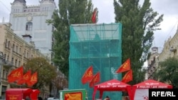 Restoration of the Lenin monument damaged on June 30 in Kyiv