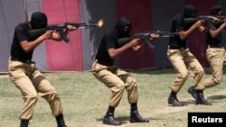 File photo of police in the eastern Pakistani province of Punjab .