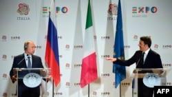 Vladimir Putin və Matteo Renzi