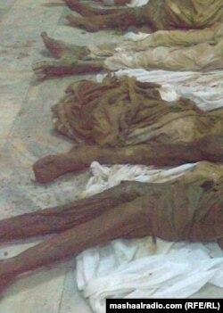 په بلوچستان کې اکثره د وژل شویو بلوڅانو مړي په دغه حالت کې موندل کېږي