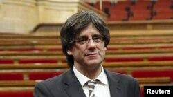 Президент Каталонии Карлес Пучдемон.