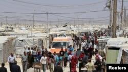 Sirijske izbjeglice u kampu Al Zaatri, Jordan, april 2013.