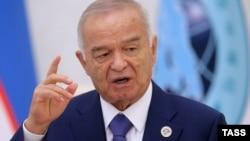 Ислам Каримов во время встречи Шанхайской организации сотрудничества в Ташкенте, 24 июня 2016