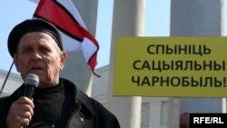 Іван Нікітчанка на сёлетнім Чарнобыльскім шляху