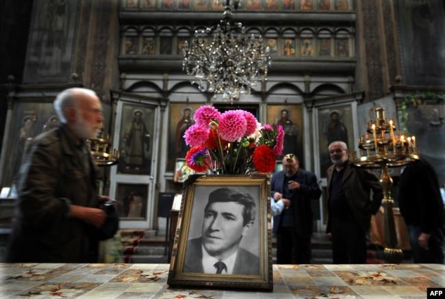 Мемориальная служба в годовщину убийства Георгия Маркова, отравленного рицином