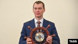 Михаил Дегтярев на официальном представлении в Администрации Хабаровского края, 20 июля 2020 года