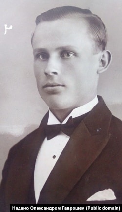 Молодий Микола Грицак за Чехословааччини