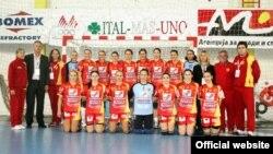 Македонската женска ракометна репрезентација.