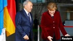 Нұрсұлтан Назарбаев пен Ангела Меркель. Берлин, 9 қаңтар 2014 жыл