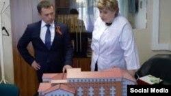 Жанна Есева на встрече с мэром Иркутска