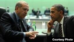 АҚШ президенті Барак Обама мен Түркия премьер-министрі Режеп Тайып Ердоған.