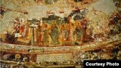 Frescă din nartex în Biserica Adormirea Maicii Domnului, Căușeni