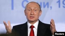 Володимир Путін під час виступу у Красній Поляні біля Сочі, 22 жовтня 2015 року