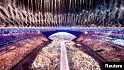 Торжественная церемония открытия Игр состоялась на стадионе «Маракана» в Рио-де-Жанейро.