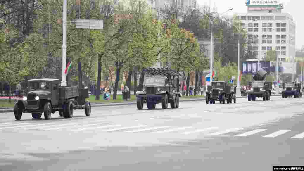 Belarus - preparation for a military parade in Minsk