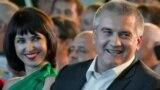 Российский глава Крыма Сергей Аксенов и его жена Елена Аксенова