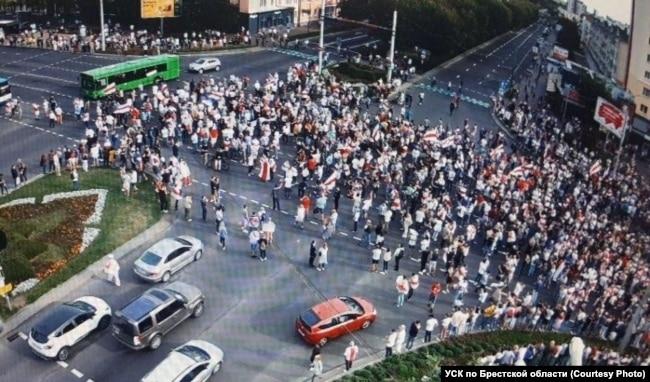 Демонстрация в Бресте 13 сентября 2020 года