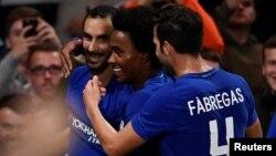 Chelsea üçün növbəti qolun sevinci