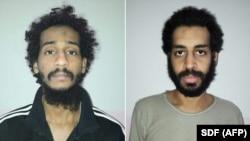 A composite file photo of captured British IS fighters El Shafee Elsheikh (left) and Alexanda Kotey.