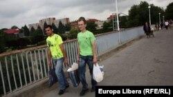 Tiraspol, pe podul de peste Nistru