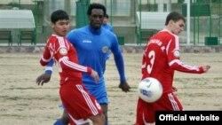 """Tajikistan,Sughd region, a tajik football team """"Istiqlol"""" at training camp in Qairoqum city,20February2013"""