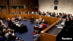 На слуханні в комітеті Сенату США з закордонних відносин щодо Сирії, фото 3 вересня 2013 року