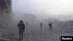 Сурия озодлик армияси жангчилари.