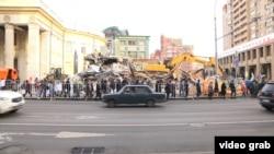 Moskva, dağıdılan tikililər