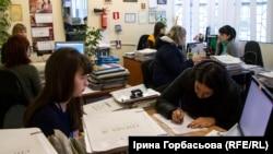 Прием в центре занятости в Мариуполе