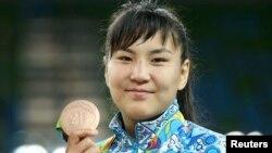 Эльмира Сыздыкова, бронзовый призер Олимпиады в Рио.17 августа 2016 года.