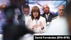 Argentina Xavfsizlik vaziri Patrisiya Bullrich kokain mojarosi haqida gapirmoqda.