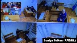 Фрагмент трансляции суда по делу Макса Бокаева. Астана - Петропавловск, 25 января 2018 года.