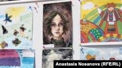 Рисунки детей, живущих в зоне АТО на востоке Украины