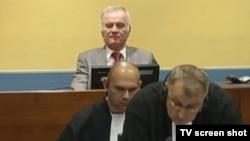 Ratko Mladić u sudnici, oktobar 2013.