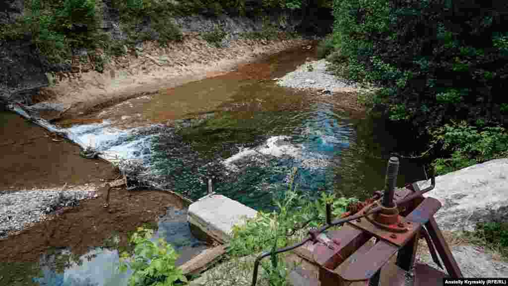 Место водозабора на Бельбеке